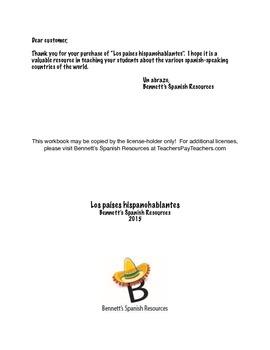 Workbook: Spanish Speaking Countries / Los países hispanohablantes