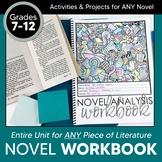 Workbook for ANY Novel: Unit Study Grades 7-12 EDITABLE