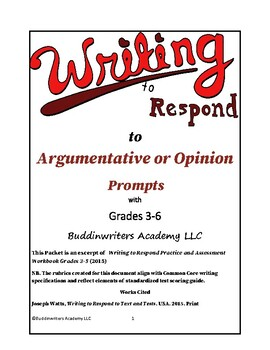 Workbook: Prepare Gr 6-12  Students for Evidence-based Writing. Test Readiness