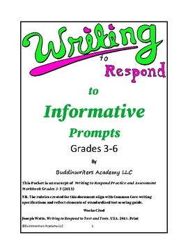 Workbook: Walk Grades 3-5 Students through Formal Writing: Test Readiness