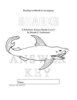 Workbook for Informational Readers: SHARKS--ANSWER KEY