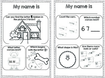 Preschool and Kindergarten Worksheets