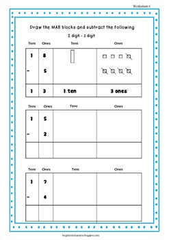 Workbook for Subtraction using Place Value Strategies and more