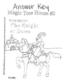 Workbooks for Readers: Magic Treehouse #2 (Knight at Dawn)
