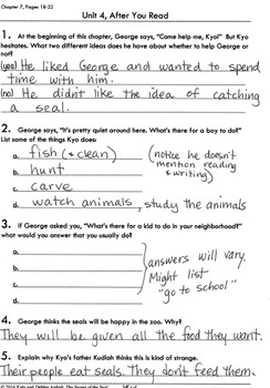Workbooks for Readers: Secret of the Seal FREE Answer Key