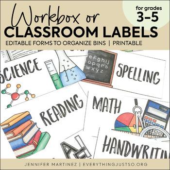 Workbox Labels - Editable