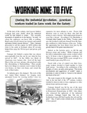 Industrial Revolution's Effects on America Article and Worksheet