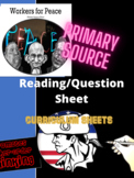Workers for Peace: Primary Sources (DBQ Practice Activities) World History