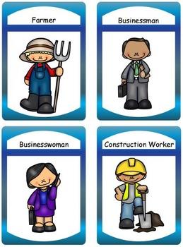 Community Helpers Task Cards