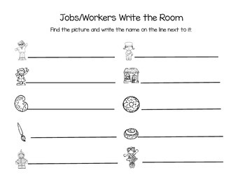 Workers/Jobs Write Around the Room Pack