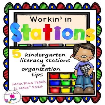 Kindergarten Literacy Stations- Organization Ideas with Re