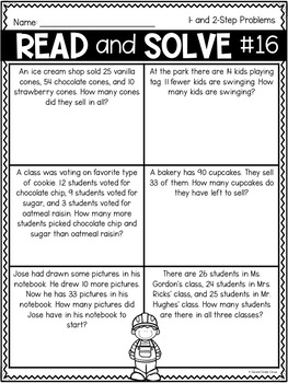 Workin' on Word Problems (VA SOL 2.6c) by Second Grade ...