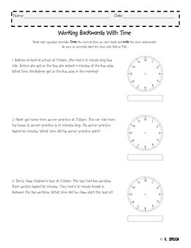 Working Backwards With Time