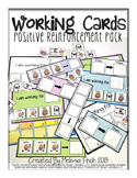 Working Cards- Positive Reinforcement Pack