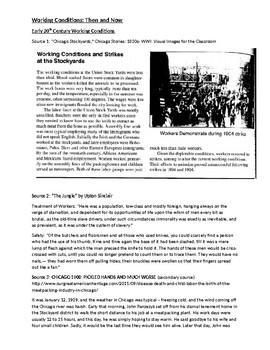 Working Conditions Comparison History DBQ