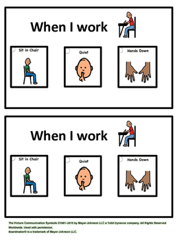 Working Expectations Visuals - FREEBIE!