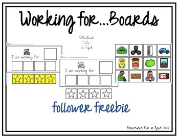 Working For Boards for Preschool, Pre-K and Special Needs