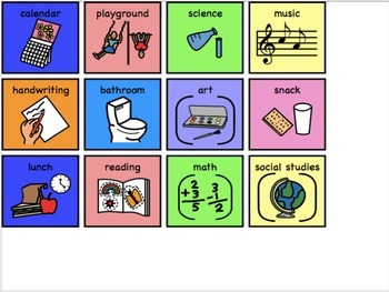 Working For Boards with Icons for Special Education