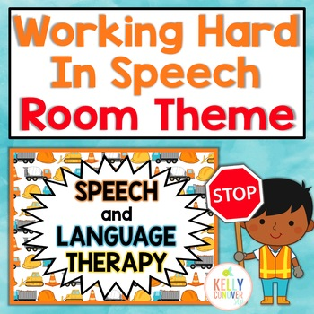 Working Hard in Speech | Speech Therapy Room Decorations