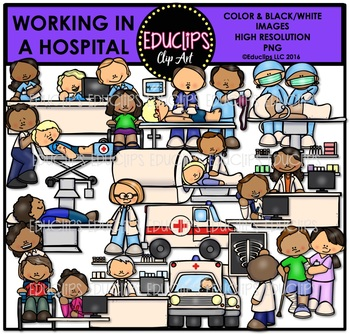 Working In A Hospital Clip Art Bundle {Educlips Clipart}