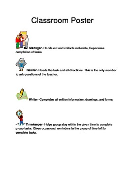 Working In Groups Free Classroom poster