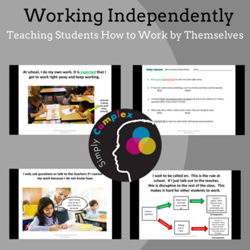 Working Independently; Teaching Students Independence; Expected Behavior