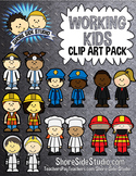 Community Workers Kids Clip Art Pack