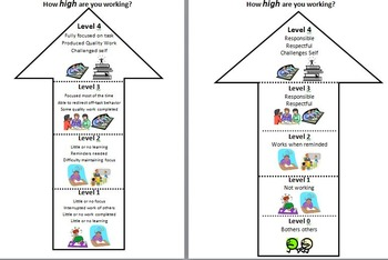 Working Levels-Primary Rubric
