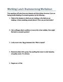 Working Lunch Brainstorming Worksheet