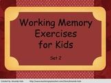 Working Memory Activities for Kids - Set 2