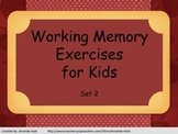 Working Memory Activities for Kids - Set 2