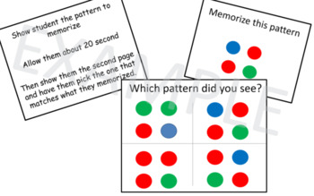 Working Memory Activies for Kids - Sets 3