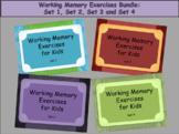 Working Memory Activities for Kids - BUNDLE Sets 1, 2, 3, & 4