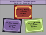 Working Memory Activities for Kids - BUNDLE Sets 2, 3, & 4