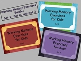 Working Memory Activities for Kids - Sets 1, 2, & 3