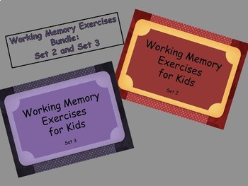 Working Memory Activities for Kids - Sets 2 & 3