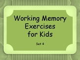 Working Memory Activities for Kids - Sets 4