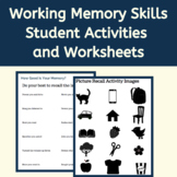 Executive Function Activities & Worksheets: Working Memory