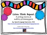 Working Memory & Auditory Processing Game (Listen.Think. Repeat.)