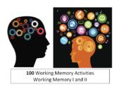 Working Memory BUNDLE! Working Memory I and Working Memory II: 100 Days of Fun!