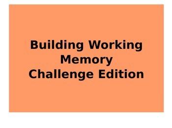 Working Memory Challenge Practice Powerpoint