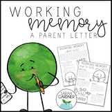 Working Memory Parent Letter