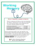 Working Memory Word Game