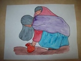 Working Mother water coloring art