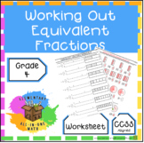 Working Out Equivalent Fractions Worksheet (4.N.F.1)