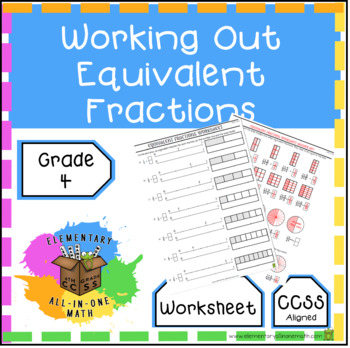 Working Out Equivalent Fractions Worksheet 4nf1 Tpt