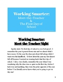 Working Smarter: Meet-the-Teacher and the First Day of School