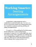 Working Smarter: Seating Arrangements