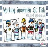 Working Snowmen Go Fish Short Vowels