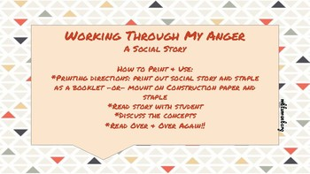 Working Through My Anger (A Social Story)